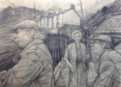 Carpanini-David-Kyffin studies 2,Drawing in Nant Peris 1987. pencil 21.5 x 30 inches.jpg