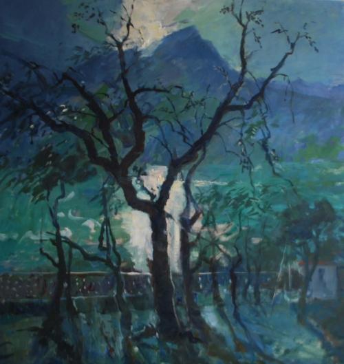 Corsellis-Jane-Olive Trees at Lake Garda. Evening.jpg