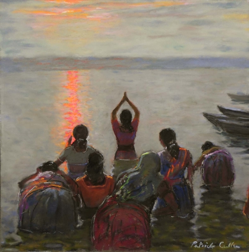 Cullen-Patrick-Women Bathing at Varanasi, Dawn (2).jpg