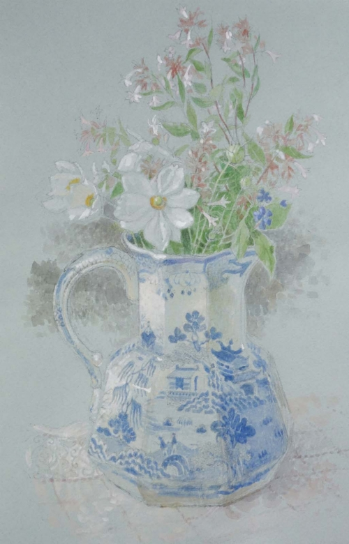 Halliday-Charlotte-September Flowers in Ironstone Jug.jpg