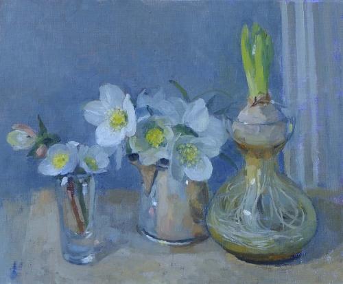 Kay-Pamela-Hellebores and the Hyacinth.jpg