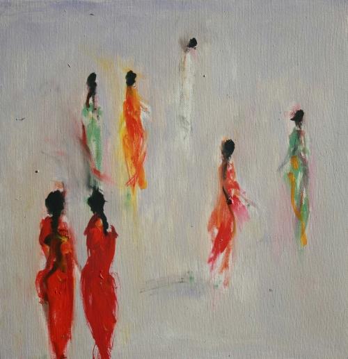 Shrager-Ann-Ladies in Red Saris.jpg