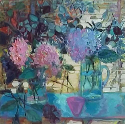 Johnstone-Isobel-Black-Dahlia-and-Hydrangeas.jpg