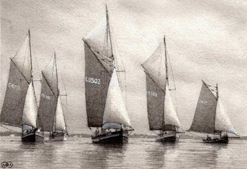 Myers-Mark-The-Mary-Amelia-Leading-the-Fleet.jpg