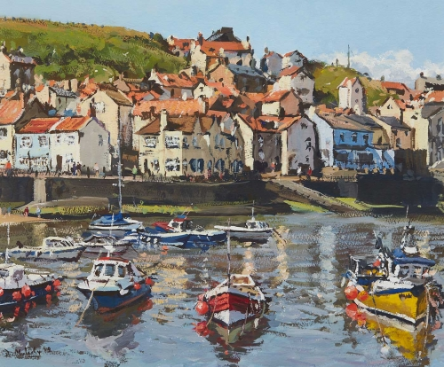 Mulcahy-Bruce-Staithes-From-The-Harbour-Wall-Summer.jpg