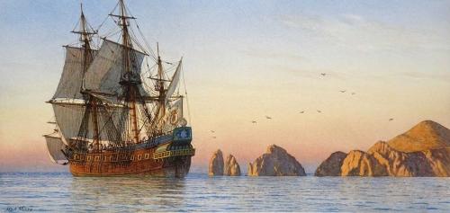 Myers-Mark-Sunrise-The-Manila-Galleon-Sailing-From-Cabo-San-Lucas.jpg