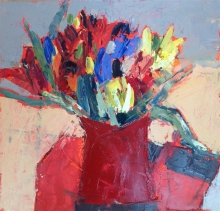 Clegg-Colette-Tulips in a Red Jug.jpg