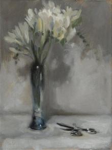 Davison-Helen-Freesias in a Tall Vase.jpg