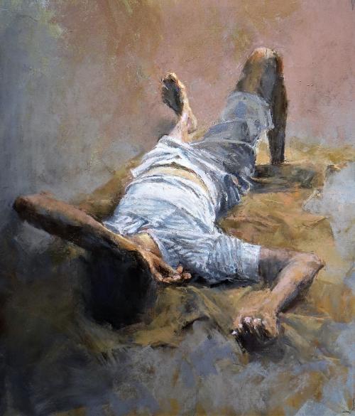 Arnold-June-Asleep-on-a-Sack-Cloth-in-Kolkata.jpg