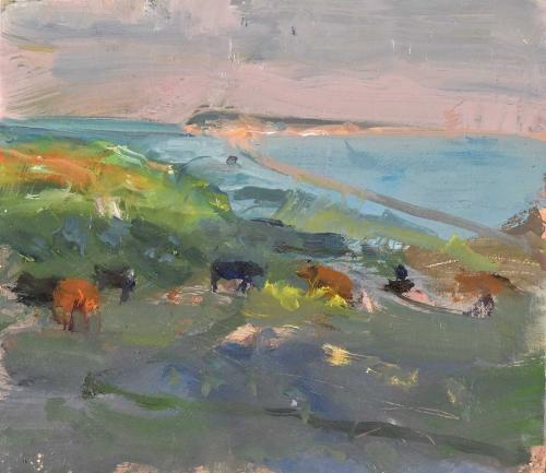Pikesley-Richard-Cows-on-the-Path-View-to-Portland.jpg
