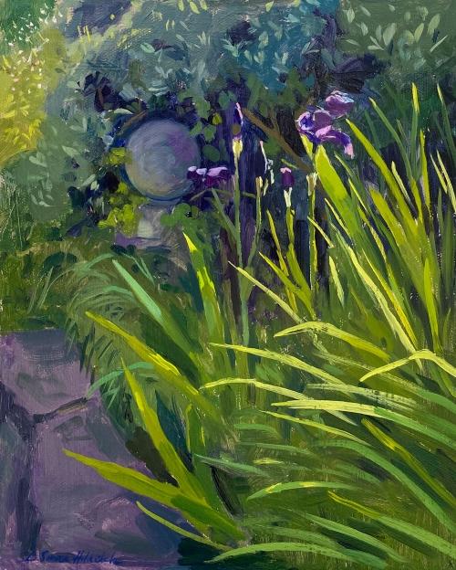 DaisySims-HilditchOrnamental-stone-amongst-haloed-Irises.jpg