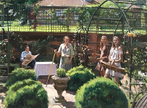 Foster-Richard-The-Hatchleys-in-the-Rose-Garden,-Flint-House.jpg