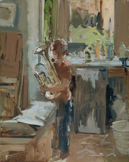 Brown-Peter-Ned-Practising-Studio.jpg
