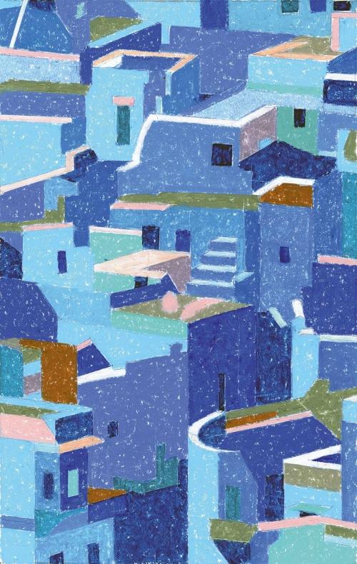 Rees-Richard-Jodhpur-Brahmin-Houses-Fragment-Oil-Pastel.jpg
