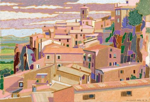 Rees-Richard-Orvieto-Rooftops-Oil-Pastel-.jpg