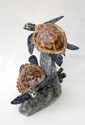 Moger-Jill-Two-young-Hawksbill-Turtles---stoneware---29x25cms---£1300.jpg