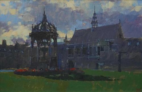 Sawyer-David-Late-Afternoon,-The-Great-Quad,-Trinity-College,-Cambridge.jpg
