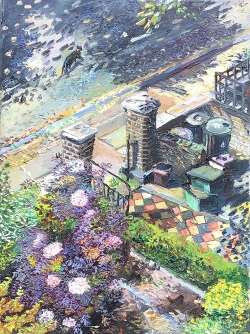 Scott-Miller-Melissa-Tiled-Path-with-Elderflower-and-Cat.jpg