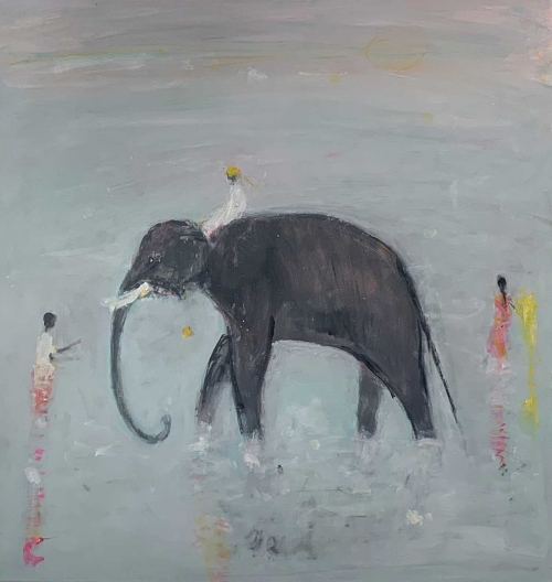 Shrager-Ann-Elephant-and-Mahouts-in-the-Pool.jpg