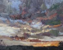 'Aussie dawn',oil on canvas, 24inches x 30inches, £2700.JPG