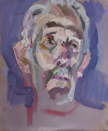 'Michael with uplighting',oil on board, 12inches x 10inches, £950.JPG