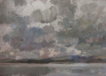 'Squall over the lake', oil on copper, 6inches x 8.5inches, £850.JPG