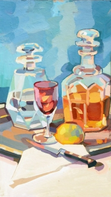 31 Cocktail hour, Oil on board 26x47cm.jpeg