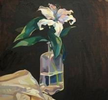 Silk and Promises, Oil on Linen, 40x40cm.jpeg