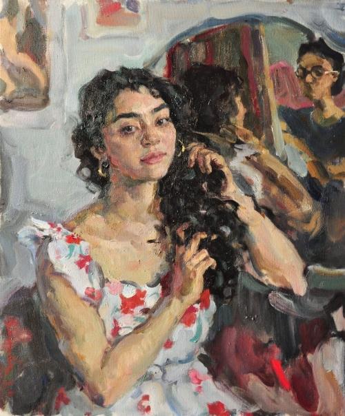 Tichshenko-Yaroslava-Amal-Combing-her-Hair.jpg
