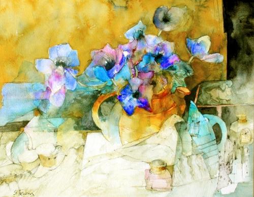 Trevena-Shirley-Still-Life-with-Yellow-Jug-of-Anemones.jpg