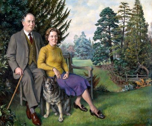 Walton-John-Archibald-Richard-Sanford-Hodgson-and-his-wife-Helen-Mary-Ursula-at-The-Cottage-Compton-Surrey-with-their-dog-Siggy.jpg
