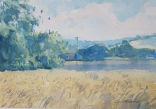 'River meadow - Taw Valley'- Colin Allbrook RI RSMA