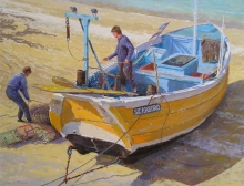 David Allen, A Yorkshire Coble, Flamborough