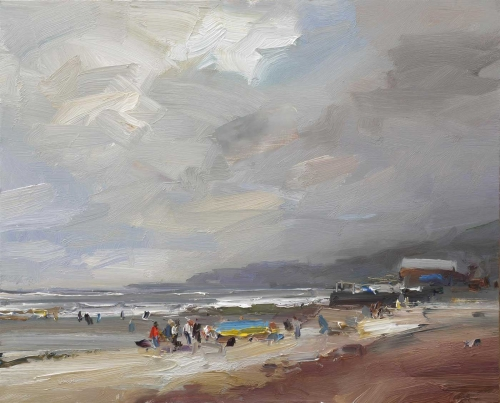 Atkins-David-A-Breezy-Day-at-Charmouth,-Dorset.jpg