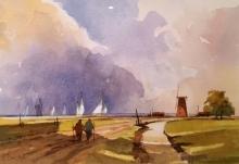 Beckett-Fred-Sails across the Marshes, Norfolk.jpg