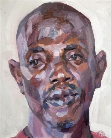 Benson-Tim-Abdulai, Ebola survivor, security officer on the Isolation Unit, Connaught Hospital, Freetown, Sierra Leone.jpg