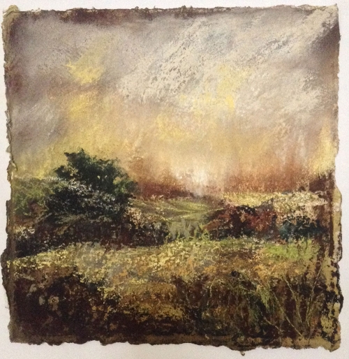 'A Summer Evening, Suffolk' pastel work by Annie Boisseau
