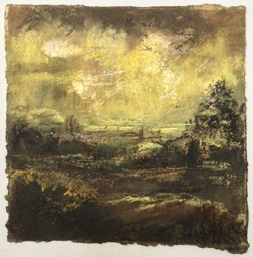 'Across the Vale' pastel work by Annie Boisseau