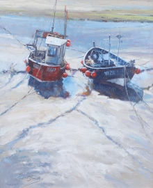 Brindley_Robert_Boats Staithes Harbour.jpg