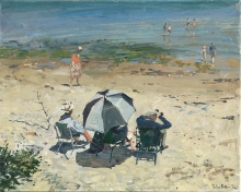 Brown-Peter-Afternoon-on-the-Beach,-Studland.jpg