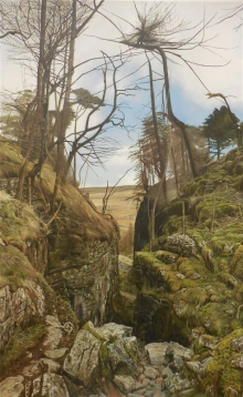 Barry Charlton, Trow Gill Ravine Mall Galleries