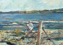 Coates-Tom-Mary-Painting-after-a-Swim,-Shelly-Beach,-Tasmania.jpg