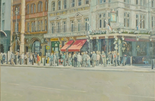 Cook Richard P . The Red   Lion Whitehall  (Oil on Canvas).JPG
