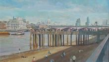 Cook-Richard-A Beach on the Southbank - Thames.jpg