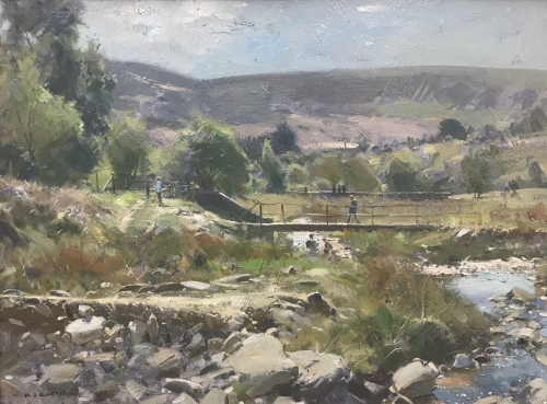 Curtis-David-Little Footbridge, Crowden Beck.JPG
