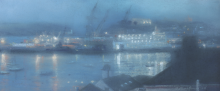 Draper_Matthew_Nocturne with reflections Falmouth Harbour.png
