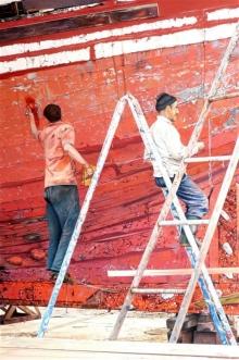 Fleming-Brian-Repair Work Red Boat, Essaouira, Morocco.jpg