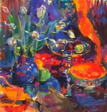 Graham-Peter-Tulips in a Blue Jug.jpg
