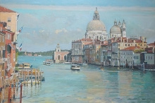 Grand Canal Venice - Ferry passing  Salute.jpg