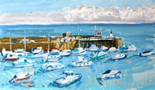 Hall-Alice-Gorey Harbour Pier, High Tide, Jersey.jpg